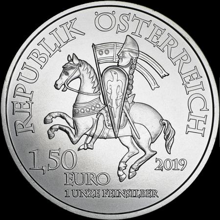 Srebrna Moneta 825th Anniversary Of The Austrian Mint - Leopold V 1 uncja