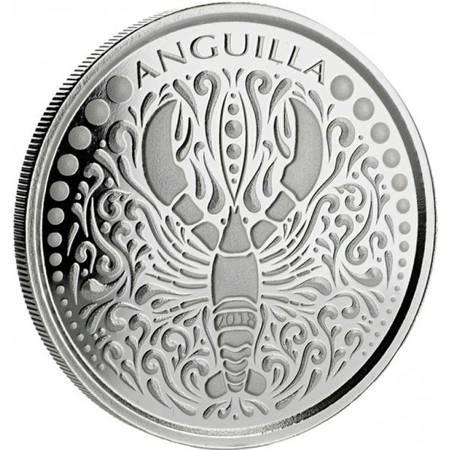 Srebrna Moneta Anguilla 1 uncja 2018r 24h