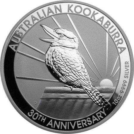 Srebrna Moneta Australijska Kookaburra 10 uncji