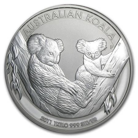 Srebrna Moneta Australijski Koala 1000g (1kg) 24h