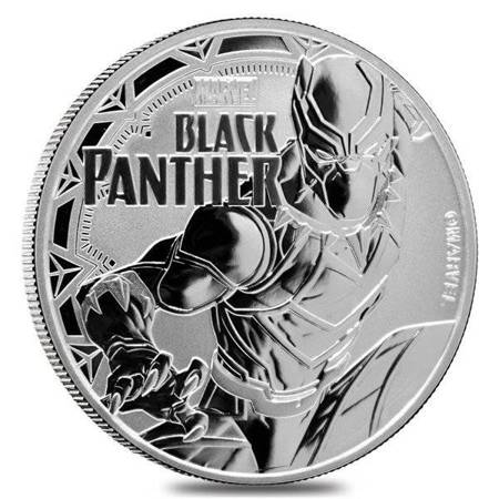 Srebrna Moneta Black Panter - Marvel Series 1 uncja 2018r 24h