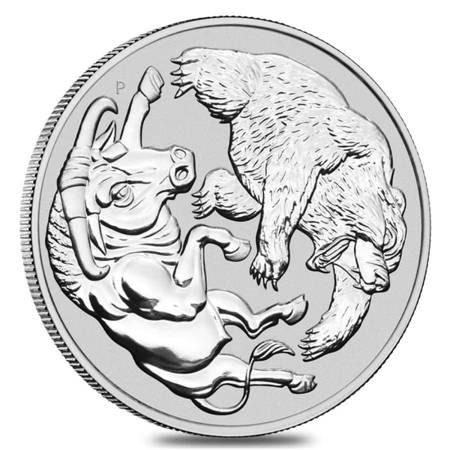 Srebrna Moneta Byk i Niedźwiedź 1000g (1kg) LIMITOWANA
