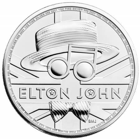 Srebrna Moneta Elton John 1 uncja 24h