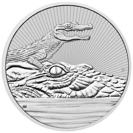 Srebrna Moneta Krokodyl 2 uncje LIMITOWANA