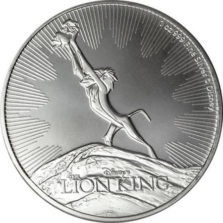 Srebrna Moneta Król Lew - Disney 1 uncja 24h