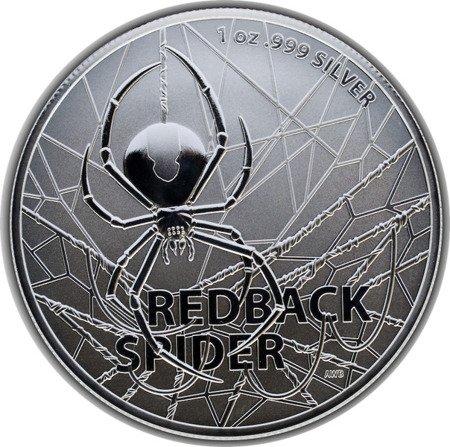 Srebrna Moneta Najniebezpieczniejsze Stworzenia Australii: Redback Spider 1 uncja 24h