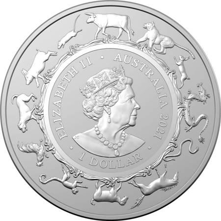 Srebrna Moneta Rok Bawoła - RAM 1 uncja 24h