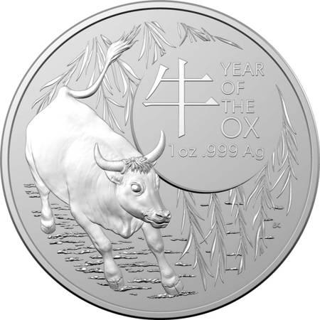 Srebrna Moneta Rok Bawoła - RAM 1 uncja LIMITOWANA