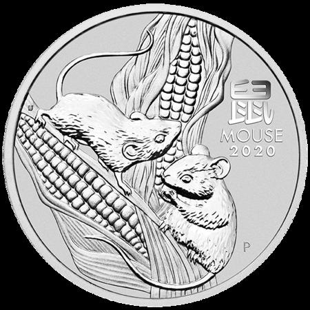 Srebrna Moneta Rok Myszy 1000g (1kg)