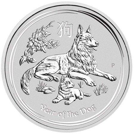 Srebrna Moneta Rok Psa 1 uncja