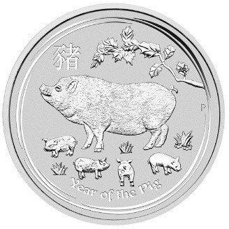 Srebrna Moneta Rok Świni 1 uncja
