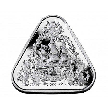 Srebrna Moneta Shipwreck Gilt Dragon 1 uncja 24h