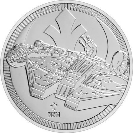 Srebrna Moneta Star Wars - Millennium Falcon 1 uncja LIMITOWANA