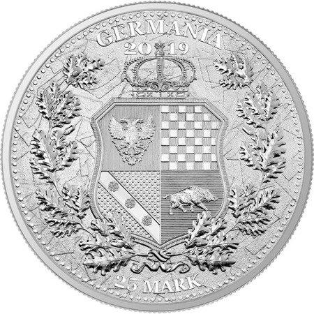 Srebrna Moneta The Allegories - Columbia & Germania 5 uncji LIMITOWANA
