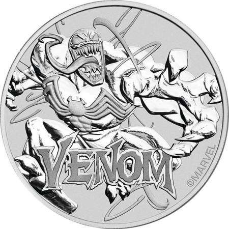 Srebrna Moneta Venom - Marvel Series 1 uncja 24h