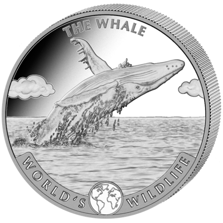 Srebrna Moneta Wieloryb 1 uncja LIMITOWANA