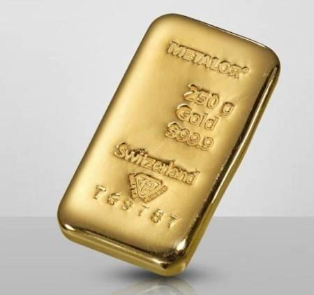 Sztabka złota 250g