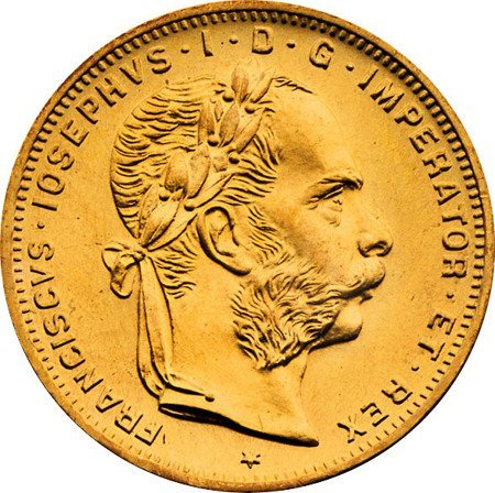 Złota Moneta 4 Guldeny Austriackie 3.22g 24h