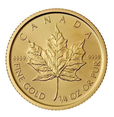 Złota Moneta Kanadyjski Liść Klonowy 1/4 uncji