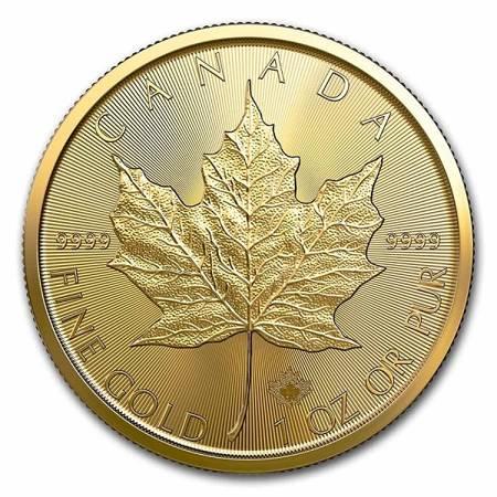 Złota Moneta Kanadyjski Liść Klonowy 1 uncja 24h