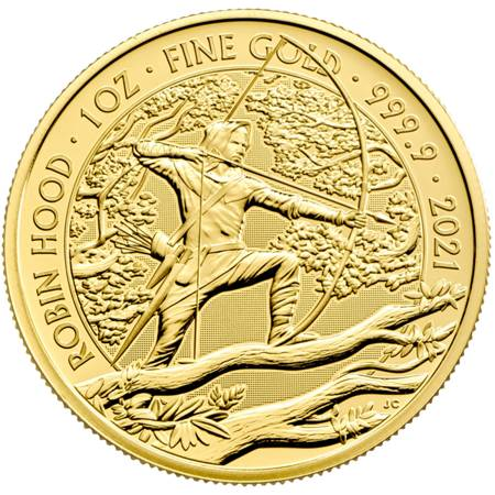 Złota Moneta Robin Hood 1 uncja