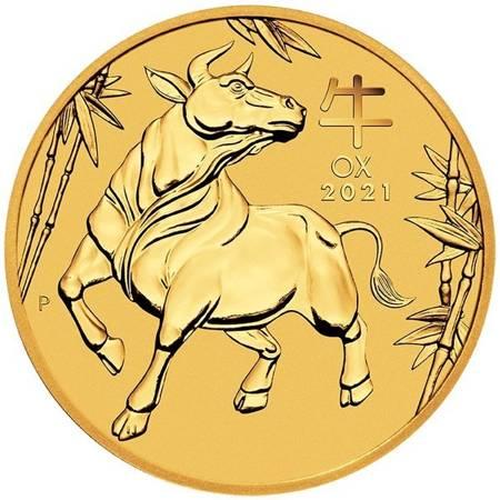 Złota Moneta Rok Bawoła 1/4 uncji 24h
