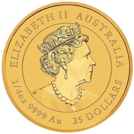 Złota Moneta Rok Bawoła 1/4 uncji