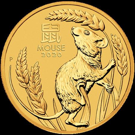 Złota Moneta Rok Myszy 1/4 uncji