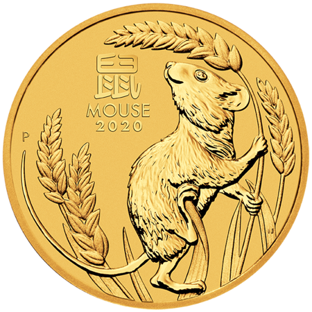 Złota Moneta Rok Myszy 10 uncji 24h