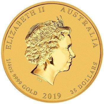 Złota Moneta Rok Świni 1/4 uncji