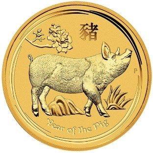 Złota Moneta Rok Świni 10 uncji 24h