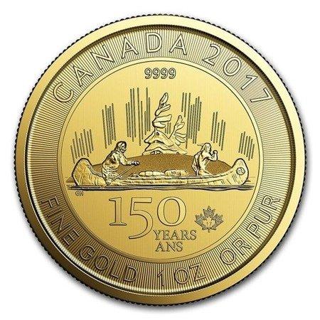 Złota Moneta Voyageur 1 uncja (150-lecie Kanady) 24h