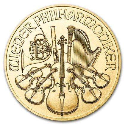 Złota Moneta Wiedeński Filharmonik 1/2 uncji