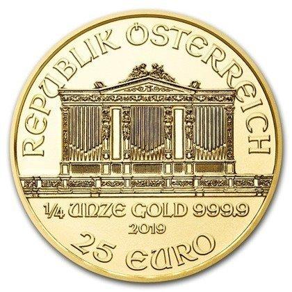 Złota Moneta Wiedeński Filharmonik 1/4 uncji 24h